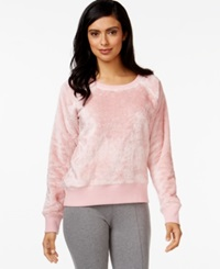 Alfani Solid Faux Fur Top Pink Quartz