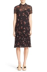 Red Valentino Women's Bouquet Floral Print Pleated Dress