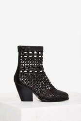 Jeffrey Campbell Nevada Woven Boot Black