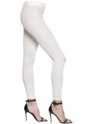 Gentryportofino Silk Rib Knit Leggings