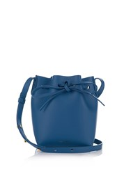 Mansur Gavriel Blue Lined Mini Mini Leather Bucket Bag