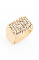 Topshop Women's Pave Crystal Ring