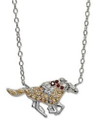 Giani Bernini Cubic Zirconia Jockey And Horse Pendant Necklace In Sterling Silver 16 2 Extender Created For Macy's