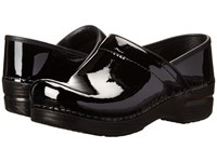 Dansko Professional Black Patent Leather Clog Shoes
