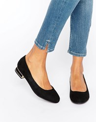 New Look Mini Heel Ballet Pump Black