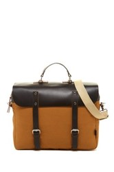Enter Khaki Canvas And Dark Brown Leather Convertible Messenger