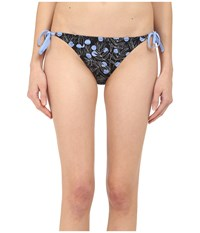 Paul Smith Floral Skinny Tie Brief Black Blue Women's Swimwear