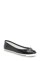 Marc By Marc Jacobs 'Mouse' Perforated Leather Flat Women Black