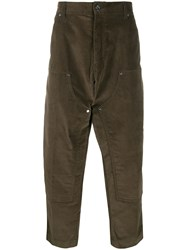 Lc23 High Waist Wide Leg Trousers Green