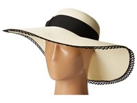 San Diego Hat Company Ubl6485 Ultrabraid Sun Brim With Lace Trim Ivory Traditional Hats White