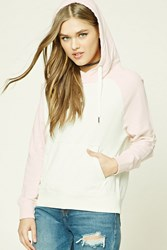 Forever 21 Colorblock Raw Cut Hoodie