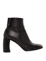 Stella Mccartney Curved Block Heel Faux Leather Ankle Boots