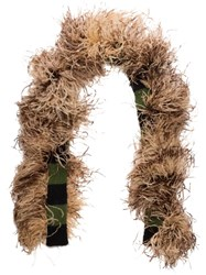 Miu Miu Feather Embellished Knitted Scarf 60
