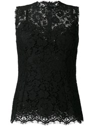 Dolce And Gabbana Lace Tank Top Black