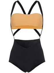 Made By Dawn Charlie Cut Out Swimsuit Black