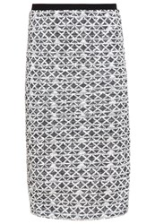 Ovs Pencil Skirt White Black