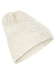 Accessorize Cashmere Cable Beanie Beige