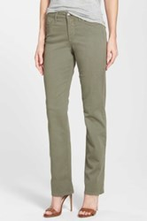 Nydj 'Hayley' Stretch Twill Straight Leg Jeans Green