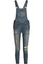 Madewell Distressed Stretch Denim Skinny Overalls