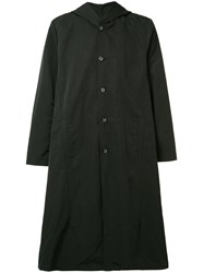 Private Stock Buttoned Hooded Coat Black