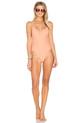 Somedays Lovin Sun Beat Down One Piece Swimsuit Peach