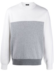 Z Zegna Striped Two Tone Jumper 60