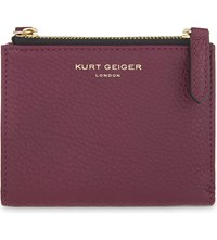 Kurt Geiger Grained Leather Mini Purse Purple