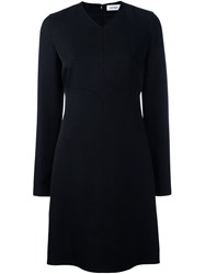 Courreges Long Sleeve Shift Dress Black