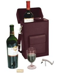 Royce Leather Connoisseur Wine Carrier Burgundy