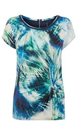 Karen Millen Palm Print T Shirt Multi Coloured Multi Coloured