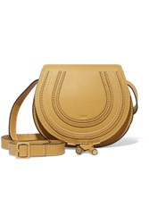Chloe Marcie Mini Textured Leather Shoulder Bag Yellow