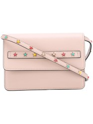 Red Valentino Stars Studded Crossbody Bag Women Calf Leather Metal Other One Size Pink Purple