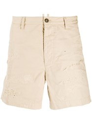Dsquared2 Distressed Shorts Neutrals