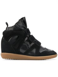 Isabel Marant Wedge Hi Top Sneakers Black