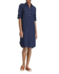 Ralph Lauren Linen Shirt Dress Navy