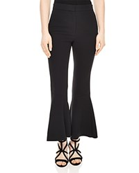 Sandro Seventies Cropped Flare Pants Black