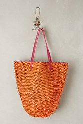 Anthropologie Market Straw Bucket Bag Rose