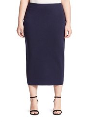 Eileen Fisher Silk And Organic Cotton Interlock Pencil Skirt Midnight