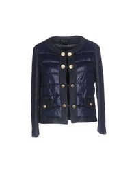 Atos Lombardini Coats And Jackets Down Jackets Dark Blue
