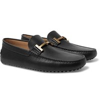 Tod's Full Grain Leather Loafers Black