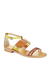 French Connection Hazel Sandals Cognac Yellow