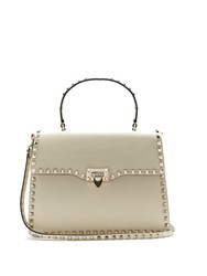 Valentino Rockstud Leather Bag Cream