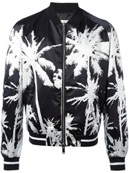 Golden Goose Deluxe Brand Palm Bomber Jacket Men Cotton Polyamide Polyester Viscose M Black