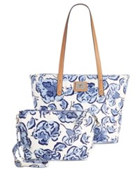 Giani Bernini Floral 2 In 1 Large Tote Only At Macy's Blue