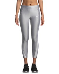 Nike Speed 7 8 Mid Rise Running Tights Gray