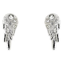 Cachet Wing Swarovski Crystal Stud Earrings Silver