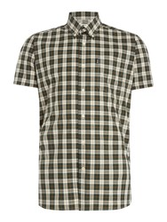Barbour Men's Cadman Tartan Short Sleeve Shirt Stone
