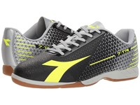 Diadora 7 Tri Id Black Yellow Fluo Silver Soccer Shoes