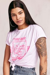 Obey Take Back The Streets Tee Pink