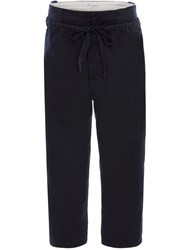 J.W.Anderson Jw Anderson Drawstring Double Front Flap Trousers Blue